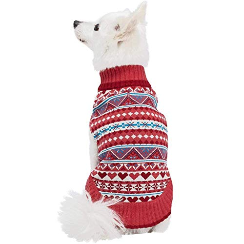 Blueberry Pet Fair Isle Style Sugar Coral Pullover...