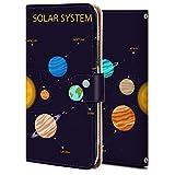 Xperia Z3 ケース 手帳型 SOL26ケース エクスぺリア Z3 カバー 純正 耐衝撃 スマホケース 全機種対応 宇宙-太陽系 ファッション アニメ 宇宙 かわいい 9548945