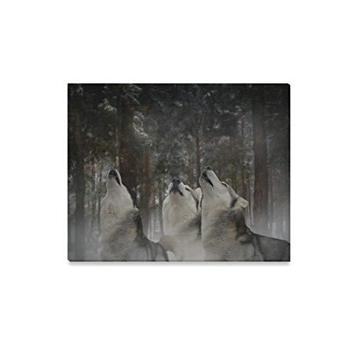 WDDHOME Wandkunst Malerei Howl Moon Flotter Dreier Spaß Drucke Auf Leinwand Das Bild Landschaft Bilder Öl Für Zuhause Moderne Dekoration Druck Dekor Für Wohnzimmer