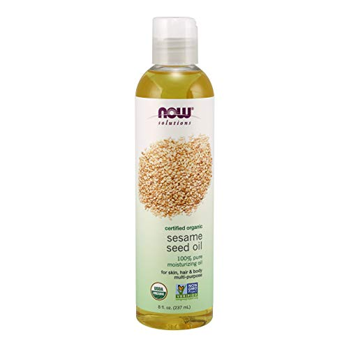 NOW Solutions, Organic Sesame Seed Oil, 100% Pure Moisturizing...