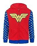 Wonder Woman Logo Girl'S Zip-Up Hoodie (7-8 Years)