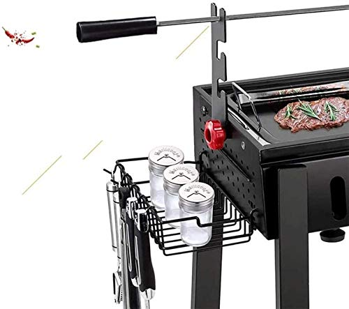 41HwBzvNlDL - JJSFJH Charcoal Grill Premium-Holzkohlegrill aus Gusseisen Grill Große Picknick Patio Grill Barbecue Folding Tragbarer Grill-Holzkohle Full Set 5 Personen Grill Heim Barbecue Folding