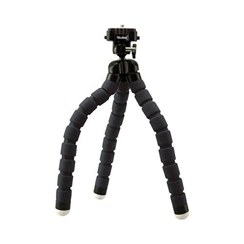 Rollei Monkey Pod I Biegsames Mini Stativ mit flexiblen Beinen I inkl. Kugelkopf I mit rutschfesten Gummifüßen und Schnellwechselplatte I Schwarz