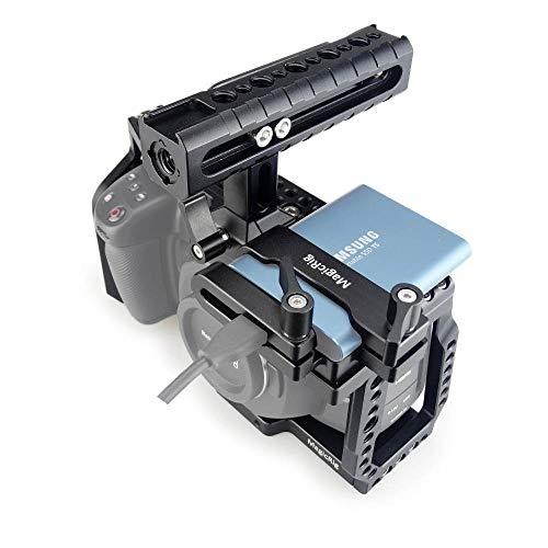 MAGICRIG BMPCC 4K /6K Cage with NATO Handle + T5 SSD Card Mount Clamp for Blackmagic Pocket Cinema Camera BMPCC 4K /6K