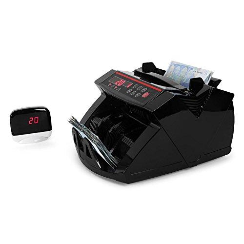 DURAMAXX Waldorf Conta Banconote con rilevatore autenticità (Doppio Sistema di Controllo Raggi UV e Magnete, 1000 Banconote/min, Display LED, Segnale Acustico, Funzione Bundle) - Nero