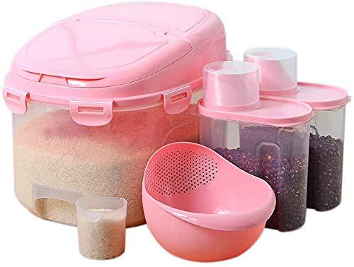 Graan opbergdoos Huis van de Keuken Rice Barrel/Meel Bucket, BPA Gratis Grootschalige verzegelde doos, Pest Control rijst en bloem Storage Box, is geschikt for 13kg Voedselbewaardoos