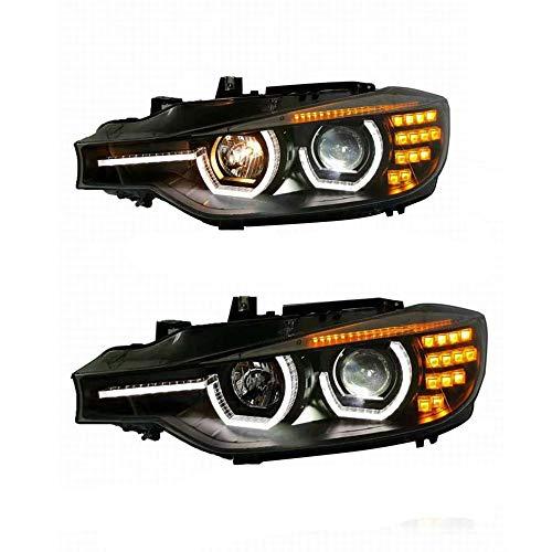 2PCS faro Assemblies 2012 2013 2014 2015 2016 3 Series F30 proiettore doppio fascio Xenon HID kit con luci diurne a LED