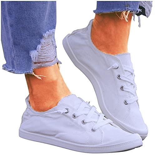 Binggong Schuhe Damen Sneaker Blumen Freizeitschuhe Frauen Low-Cut Loafer Flache Schuhe Sommer Herbst Turnschuhe Walkingschuhe Turnschuhe Leicht Atmungsaktive Schuhen Outdoorschuhe