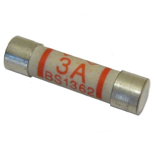All Trade Direct 25 X 3A Amp Domestic 240V Household Mains Plug Fuse Electrical Cartridge Fuses by All Trade Direct