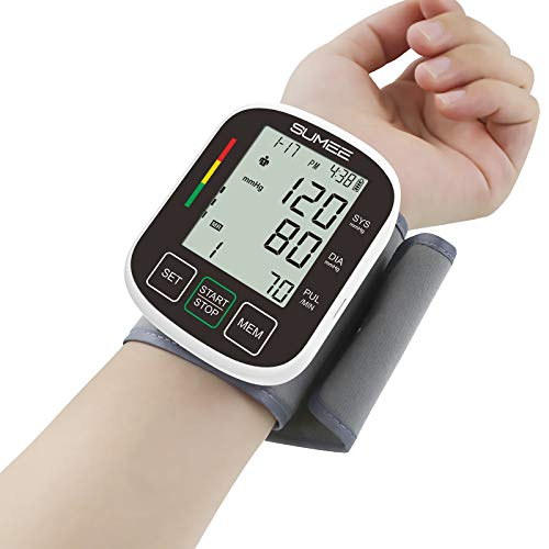 Wrist Blood Pressure Monitor,Accurate Automatic Digital BP Machine, with Irregular Heartbeat Detector, 2x99 Readings Memory Function and Large LCD Display,Include Carrying Case and 2AAA Batteries