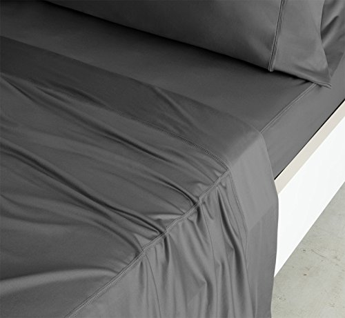 SHEEX Luxury Copper Sheet Set with 2 Pillowcases, Breathable PRO+Ionic Copper Fabric, Gray, Full