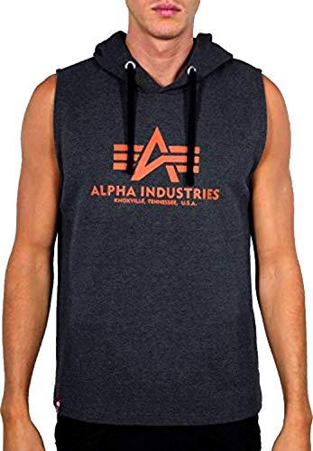 ALPHA INDUSTRIES Basic Hooded Tank T-Shirt/Unisex Grey-L