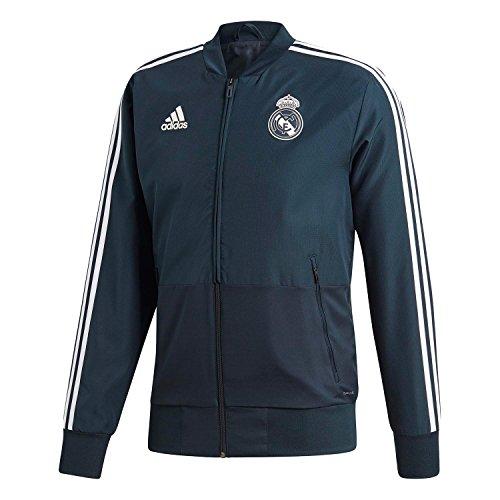 adidas Chaqueta de chándal del Real Madrid para hombre, Hombre, Chaqueta deportiva, CW8638, Techo, negro y blanco, extra-large