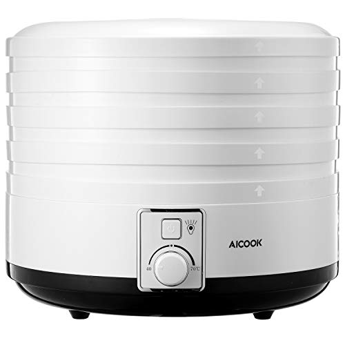 AICOOK Food Dehydrator Machine with Thermostat Preset, 5...