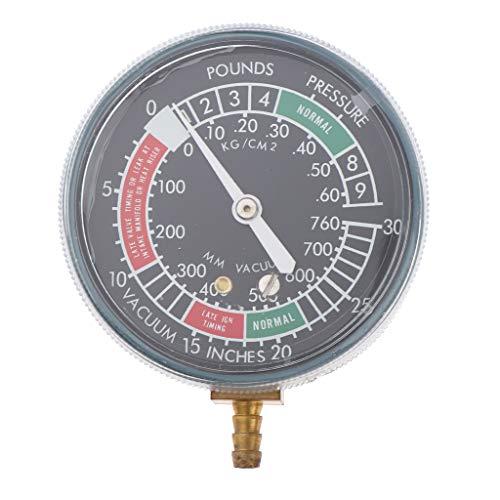 FLAMEER 70 mm Vergaser-Synchronisierer Vakuummeterwaage Vergaser-Carb-Vakuummeter Unterdruckmanometer