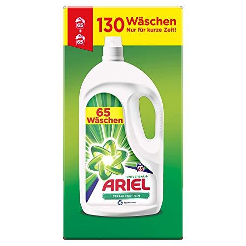 Ariel Waschmittel Flüssig, Flüssigwaschmittel Universal, Strahlend Rein, 130 Waschladungen (2 x 3.575 L)