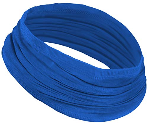 12-in-1 Cooling Neck Wrap, Gaiter, Bandana, Headband or Scarf for Men & Women - Versatile Cool Head Wrap for Summer Heat - UPF 50 Headwear for Sun Protection (Space Dye Blue)