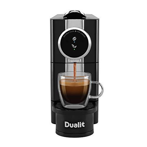 Dualit Café Plus Coffee Capsule Machine - Nespresso Compatible Capsule Machine - Espresso and Lungo Functions - Tea Maker & Espresso Machine - 40 second start up time