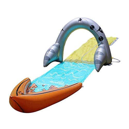 Toboganes acuáticos para césped para niños Patio trasero, Tobogán acuático para niños Tobogán extra grueso A prueba de rasgaduras Jardín Juguetes Personas Tabla de surf PVC Splash Sprint Pad para jar