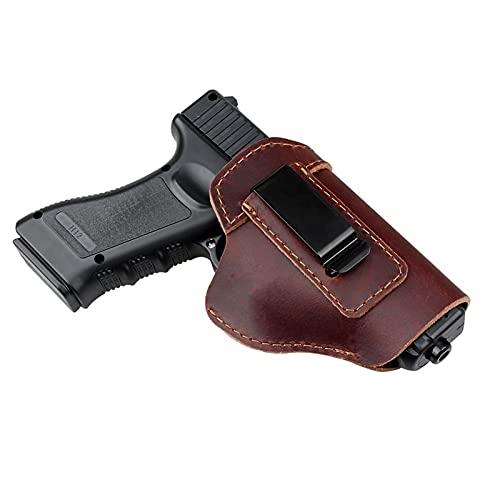 Funda de Pistola de Caza para 92 Glock 17 19 26 43 M&P Accesorios Funda de Cuero con Clip de Funda de Pistola táctica Oculta para Llevar (Color : Brown, Size : 10.5 * 13cm)