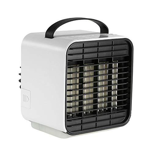 Mini-Klimaanlage, 5,2 Zoll GroßE Tragbare Mini-Klimaanlage USB-SchnittstellenlüFter 2-In-1-VerdunstungsluftküHler Mit Luftbefeuchter Und Luftreiniger