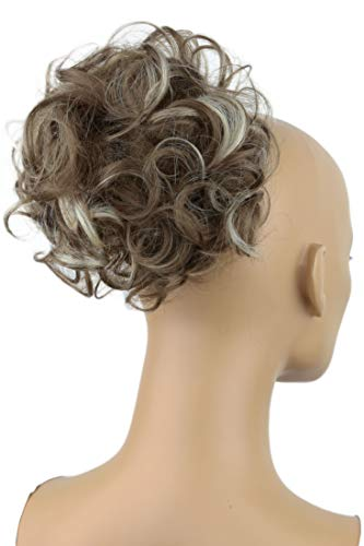 Moño para cabello trenzado PRETTYSHOP, moño de goma cola para cola de caballo alta Hepburn Div. Colores.