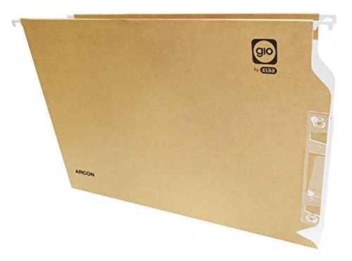 Elba Gio - Caja de 25 carpetas colgantes para armario, A4