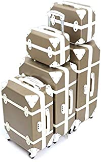 Murano Luggage Trolley Bags Set, 5 Pcs, Gold - 5-665518