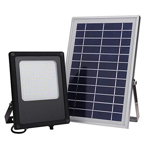 Foco Solar CLY Lámpara Solar 50W Luz Solar del Sensor Impermeable La Luz de 120 LED Iluminación Solar de Exterio Jardín Terraza Camino Matefielduk