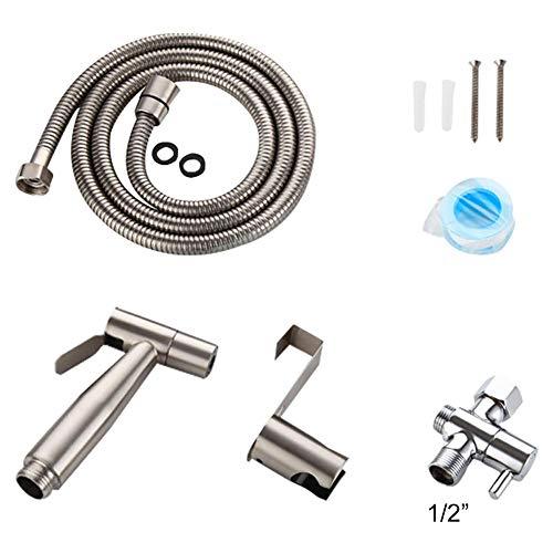 Fancylande Kit Douchette WC - Toilette Bidet Spray, Pistolet de Toilette en INOX Set, Petit Bidet de Douche European Specification, Température de Fonctionnement 0-90°