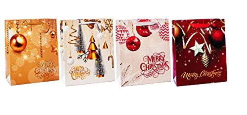 Bolsa de regalo de papel de 41 x 21 x 50 cm, 4 decoraciones