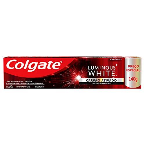 Creme Dental para Clareamento Colgate Luminous White Carvão Ativado 140g Preço especial