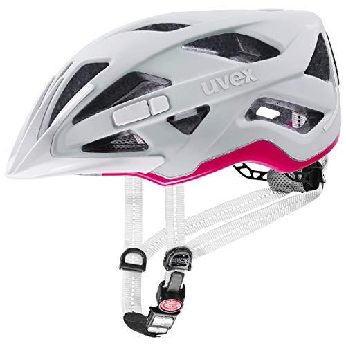Uvex City Active Casco de Bicicleta, Unisex-Adult, Papyrus-Neon Pink Mat, 52-57 cm