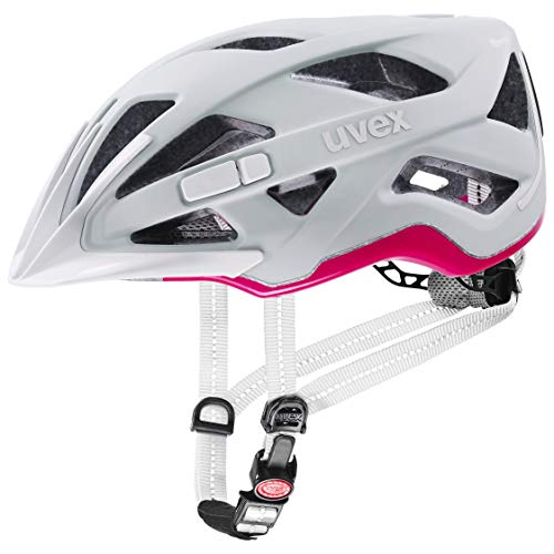 uvex Unisex– Erwachsene City Active Fahrradhelm, Papyrus-neon pink mat, 56-60 cm