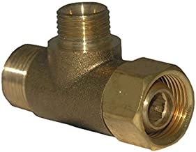 LASCO 06-9101 Angle Stop Add-A-Tee Valve, 3/8-Inch Compression Inlet X 3/8-Inch Compression Outlet X 1/4-Inch Compression Outlet, Brass