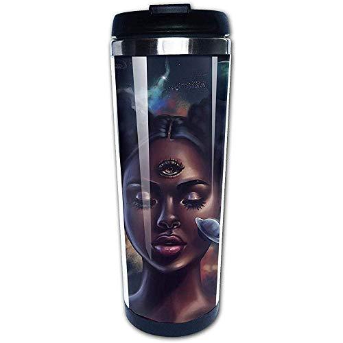 JULOE Comics-Afro-Frauen-Afroamerikaner-Kunst-Kaffeetasse-Edelstahl-Wasser-Flaschen-Schalen-Reise-Becher-Kaffeebecher