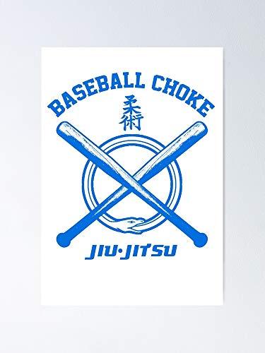 AZSTEEL BJJ Brazilian Jiu-Jitsu Blue Belt Graded Baseball Choke T-Shirt Poster Best Gift for Mothers Day