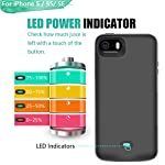 Loytal Battery Case For Iphone 5 5s Se 4000mah Rechargeable Extended Battery Charging Case External Battery Charger Case Adds 23x Extra Juice