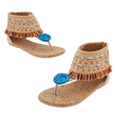 Moana - Zapatos de disfraz para niños (talla 7/8, EU 24/26)