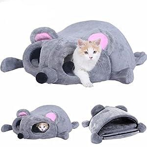 Youth Union Productos para Mascotas Saco de Dormir Suave Lavable Caliente Camas para Gatos Casa para Gatos Interior Diseño de Forma Cama Cueva para Mascotas en Invierno 9
