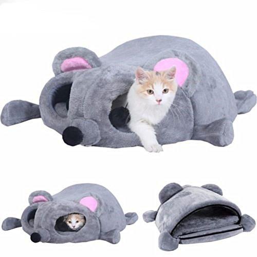 Youth Union Productos para Mascotas Saco de Dormir Suave Lavable Caliente Camas para Gatos Casa para Gatos Interior Diseño de Forma Cama Cueva para Mascotas en Invierno