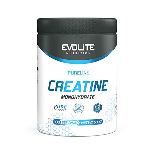 Evolite Nutrition Creatin Monohydrat 500g - Pure Flavour Pulver - Creatin wie Pre Workout Booster - Muskelaufbau Powder - Weight Gainer