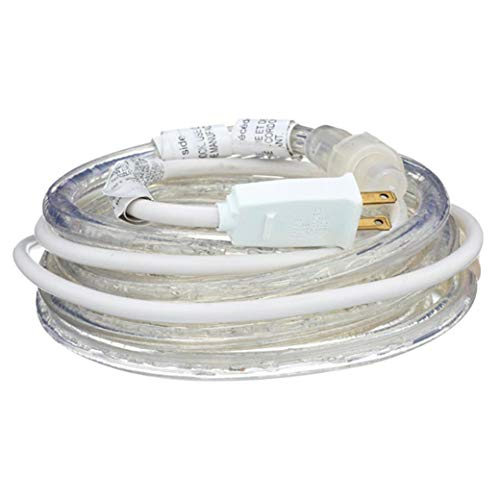 Westek LROPE12W Indoor/Outdoor LED White Kit-12' Rope Light Kit, Clear