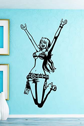 Muursticker Mooie Bikini Meisje Aan Zee Vakantie 42X80Cm Muur Kaart van Jongen/Meisje/Kinderkamer, Kinderslaapkamer/Woonkamer/Muur Kaart Poster