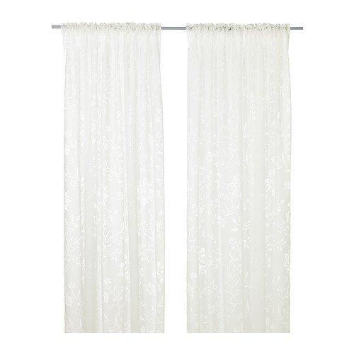 IKEA BORGHILD -Gardinen 1 Paar weiß - 145x300 cm