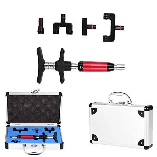 Manual Spine Chiropractic Adjustment Correction Tool, Adjust Vertebration Cervical Spondy Force Spine Adjusting Massager for Improve Joint Pain (Red)