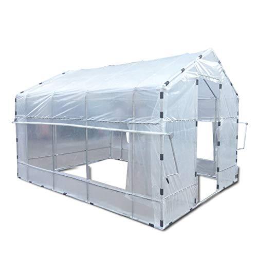 ZXCASDF Invernadero para exteriores, invernadero de plástico, portátil, para interiores, estantes de plantas, tomate, hierbas, toldo, para invierno, casa verde para patio, 500 x 300 x 250 cm