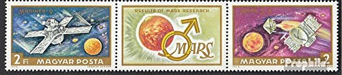 Prophila Collection Ungarn 2739A-2740A Dreierstreifen (kompl.Ausg.) 1972 Mars-Forschung (Briefmarken für Sammler) Weltraum