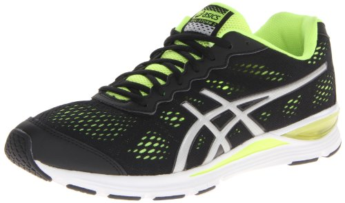 ASICS Men's Gel Storm 2 Running Shoe,Black/Silver/Flash Yellow,8 M US