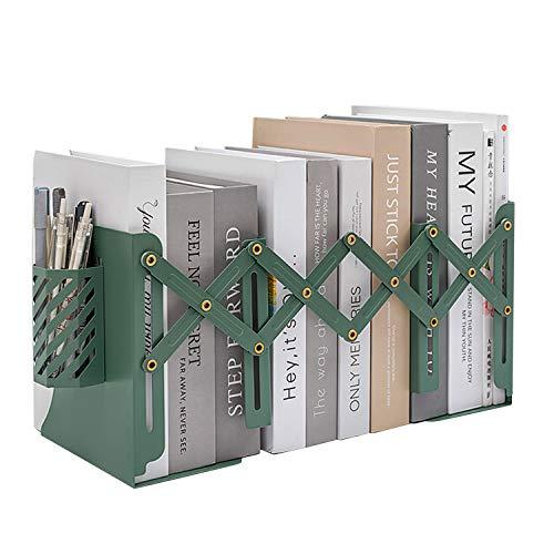 MSDADA Buchstützen Verstellbar Erweiterbar Metall Kinder Buchständer Zeitschriftenordner rutschfeste Bücherhalter Mit Abnehmbarem...